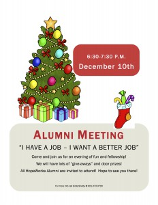 December Alumni Meeting